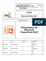 COURS OFFICE2010 MicrosoftPowerPoint2010 V1.0