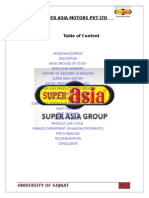 SUPER ASIA Internship Report