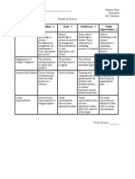 graphic organizer grading rubric