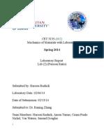 CET 3135 Lab Report 2-Poisson's Ratio