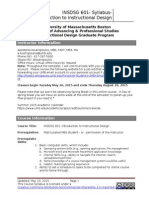 INSDSG 601 Instruction to Instructional Design - Syllabus