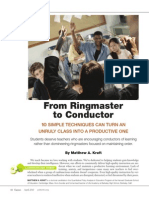 kraft m2010from ringmaster to conductor