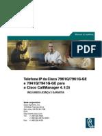 Telefone IP da Cisco 7961G/7961G-GE e 7941G/7941G-GE