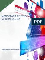 MONOGRAFIA DEONTOLOGIA