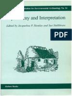 MORENO GARCÍA, M. y J. RACKHAM. 2000. Context Level Interpretation of Animal Bones Through Statistical Analysis