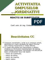 Reactii de Substitutie