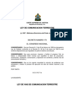 Ley de Vias de Comunicación Terrestre