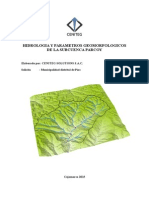 Parametros Geomorfologicos de La Subcuenca Parcoy