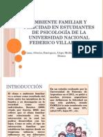 Ambiente Familiar y Felicidad en Estudiantes de Psicología