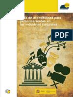 Guía de Accesibilidad Para Personas Sordas en Las Industrias Culturales