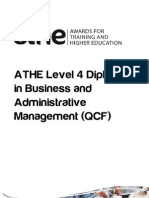 ATHE - Level 4 Diploma in Business and Administrative Management QCF