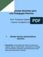 Competencias Docentes Para Una Pedagogia Efectiva