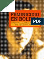 Feminicidio en Bolivia - Acceso a la Justicia y Desafios del Estado Boliviano