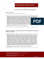 Performance scorecard for occupational safety and health management systems