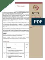 Structural Dynamics Syallbus Nptel