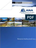Memoria Institucional 2014.  AAA III Cañete - Fortaleza