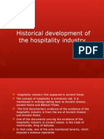 2.1 Historical Development of the Hospitality Industry
