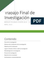 Investigación - Impacto ambiental