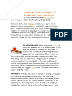 18 Amazing Health Benefits From Honey and Cinnamon