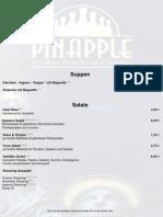 Speisekarte Pinapple 2015 Mit Logo