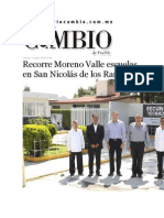 14-05-2015 Diario Matutino Cambio de Puebla - Recorre Moreno Valle Escuelas en San Nicolás de Los Ranchos