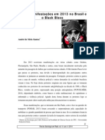 SANTOS, André de Melo - As Manifestações Em 2013 No Brasil e o Black Blocs