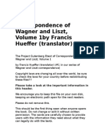 Correspondence of Wagner and Liszt, Vol 1