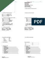 Ficha Avaliação Formativa Gramática