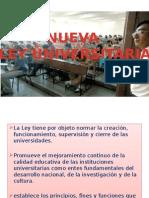 Exposicion de Nueva Ley y Estatuto Universitario 2015-i