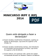 Irpf e Irpj