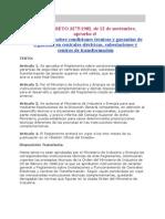 Reglamento Sobre Condiciones Técnicas y Garantias de Seguridad en CH SE