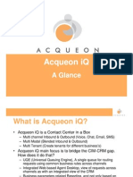 Acqueon iQ 3.0 - Glance