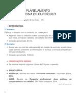 Planejamento Oficina de Currículo