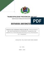 proyecto deportivo Municipalidad Provincial de Ilo