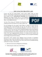 Vorherige Analyse Creative Lab - Deutsch
