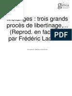 Frédéric Lachèvre_Le Libertinage Au XVIIe Siècle. 8, Mélanges