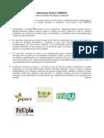 Declaración FECH Ante El Asesinato de Los Compañeros Diego Guzmán y Exequiel Borbarán