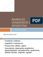 Animales Venenosos de Argentina