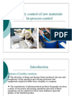 Quality Control of Raw Materials Lec8