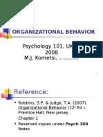 Organizational Behavior PPT