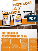 Psicopatologia de La Primera Infancia