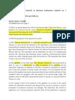 Montari Overseas Limited vs Montari Industries Limited on 7 December