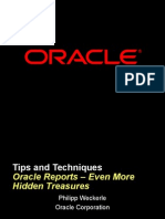 Tips and Techniques Oracle Reports