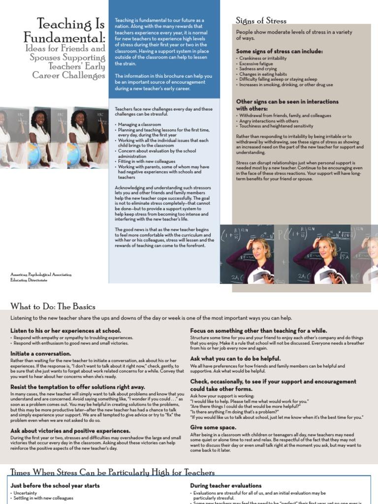 teacher-stress-brochure   Stress (Biology)   Self-Improvement