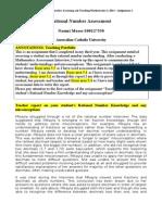 standard 5 assessment report