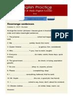 Rearrange Sentences
