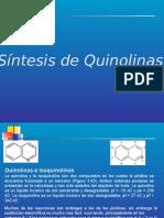 QUINOLINAS E ISOQUINOLINAS SINTESIS.pptx
