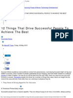 12 Things That Drive Successful People to Achieve the Best