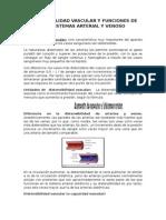 Distensibilidad Vascular y Funciones de Los Sistemas Arterial y Venoso