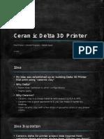 Ceramic Delta 3D Printer